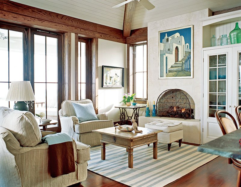 Cottage Blue Designs: Wanted: Blue & White Striped Rug