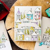 Die cut watercolour stamp scene - video  Yana Smakula