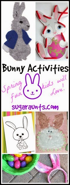 Bunny themed crafts and activities