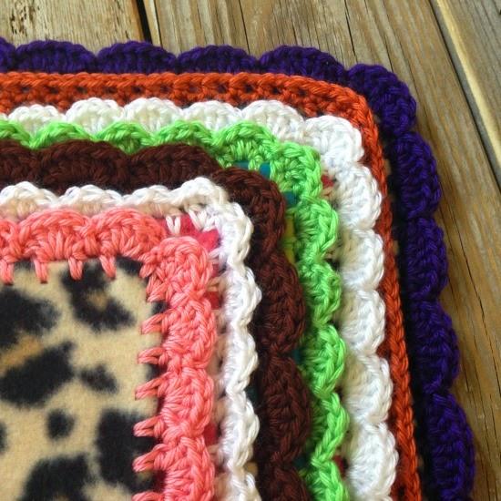 Southwest with Pepper Red Crochet Edge blanket