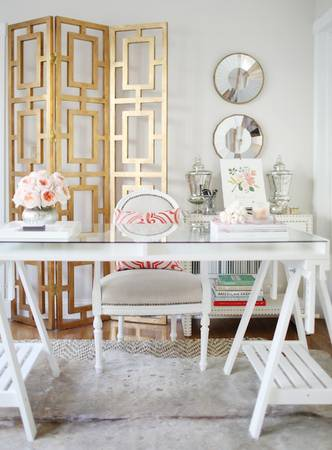 White, Feminine Office