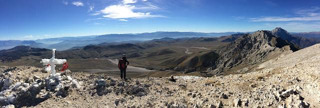 Monte Camicia: panorama verso sud