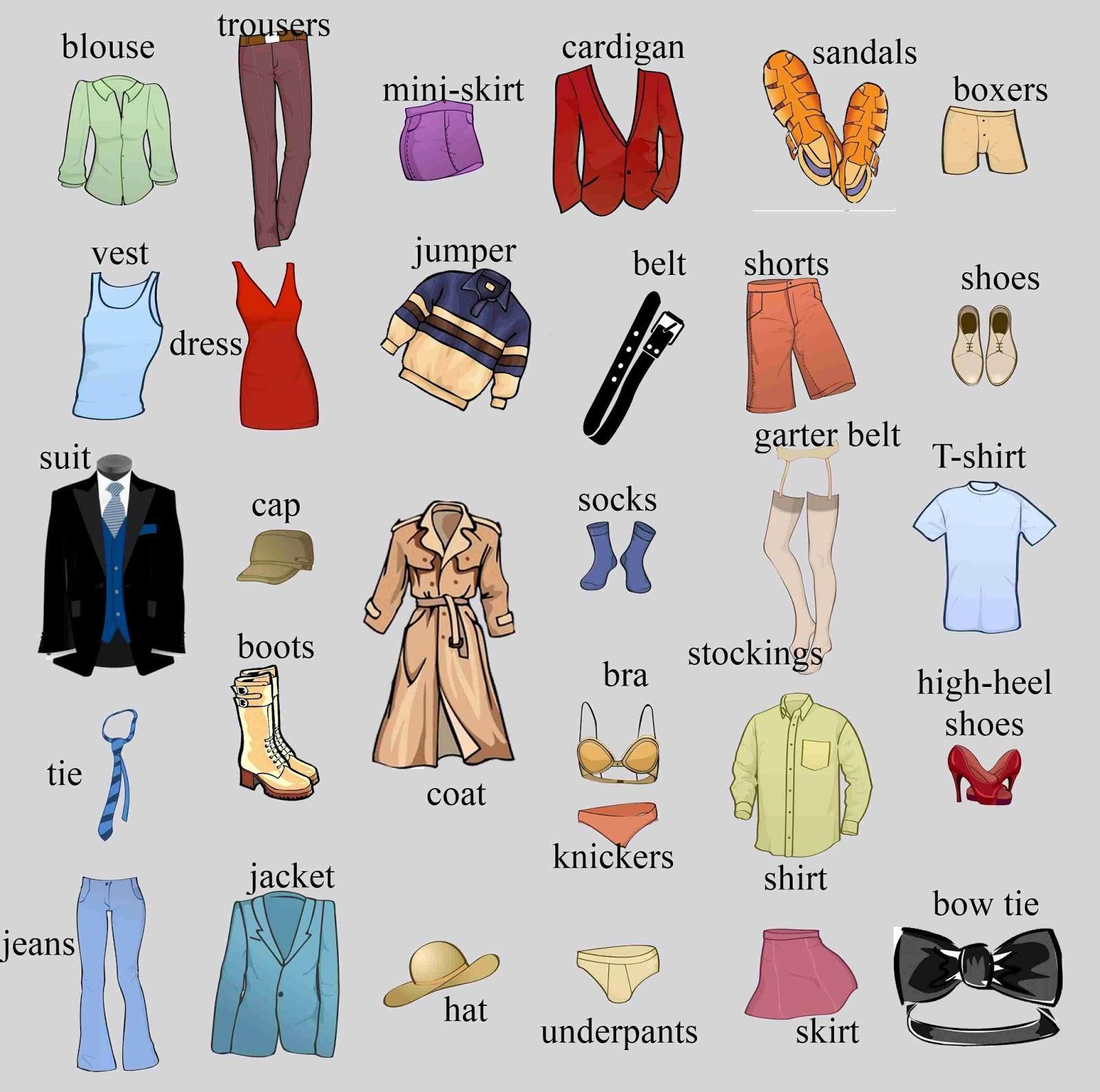 Curso Ingles Intermedio Graus Oct 2015 Prendas De Vestir