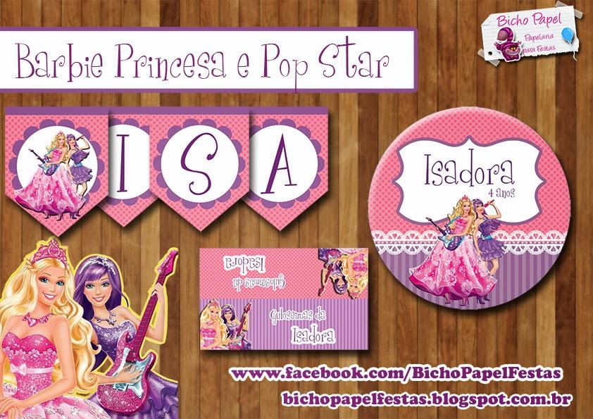 Kit Festa Barbie Princesa e Pop Star