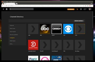 Plex Media Server channels
