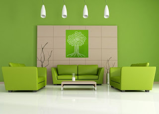 ruang+tamu+hijau+coklat Ciptakan Kesan Alami Bersama Ruang Tamu Hijau