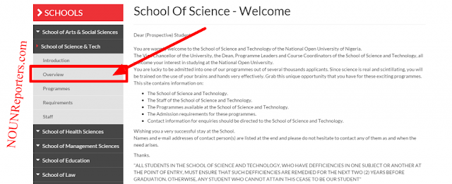 National Open University of Nigeria Sci and Tech Overview