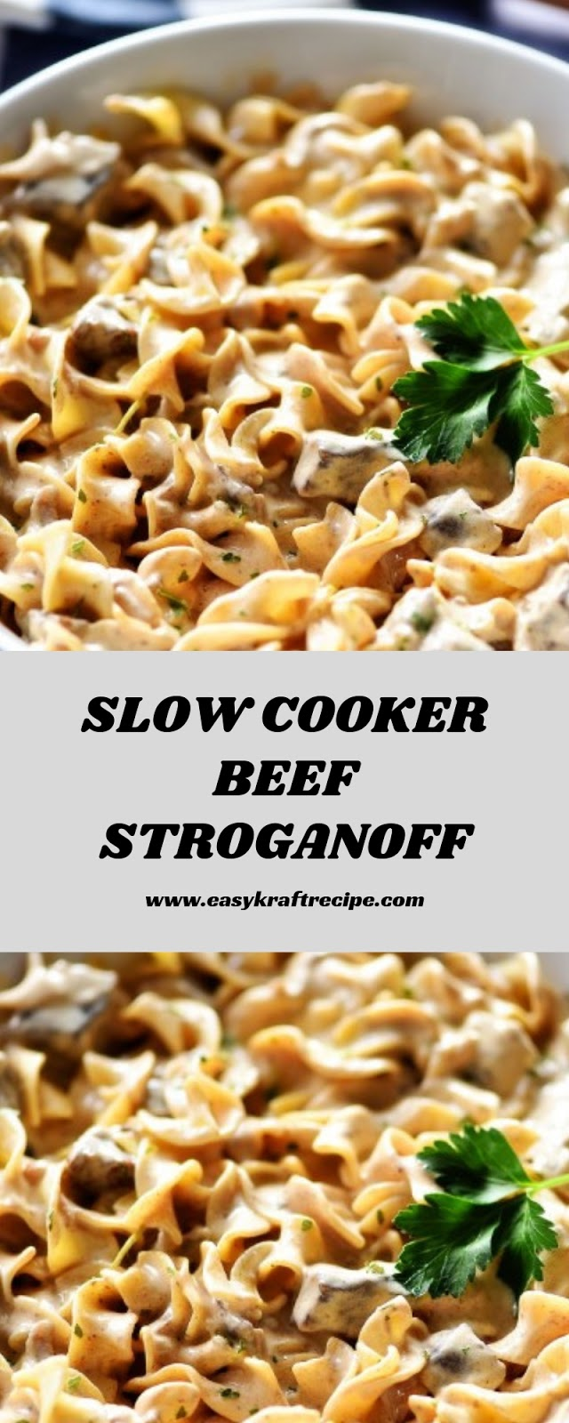SLOW COOKER BEEF STROGAN0FF