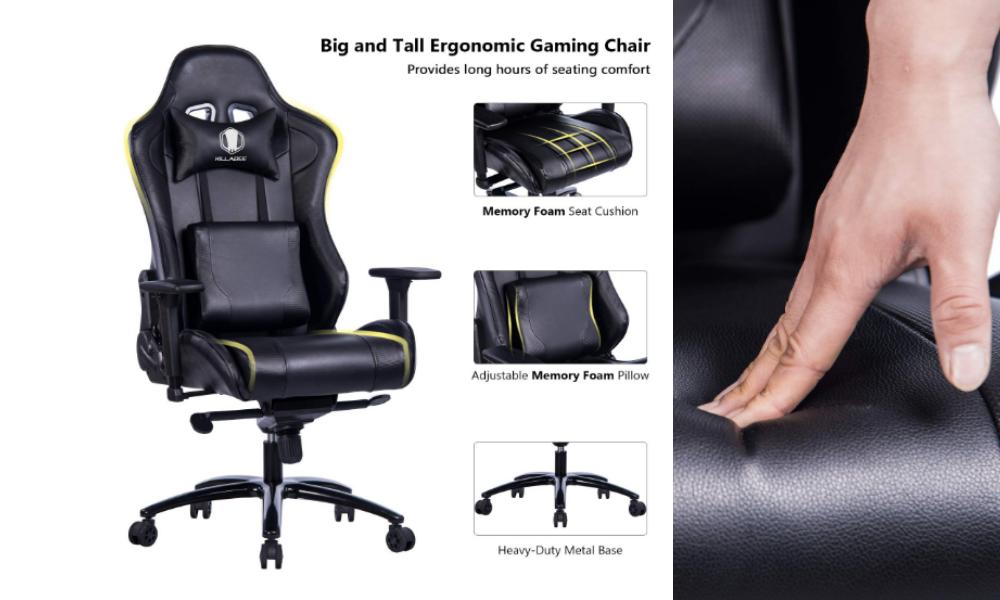 KILLABEE Big and Tall Metal Base Gaming Chair