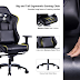 KILLABEE Big and Tall Metal Base Gaming Chair - Ergonomic Leather Racing Computer Chair
