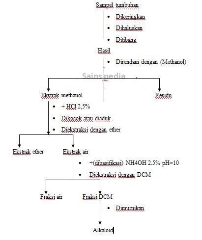 Sifat  , metode Ekstraksi dan senyawa Alkaloid