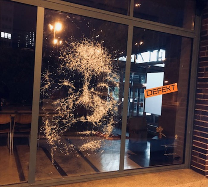 Artist Created A Stunning Portrait By Smashing Glass