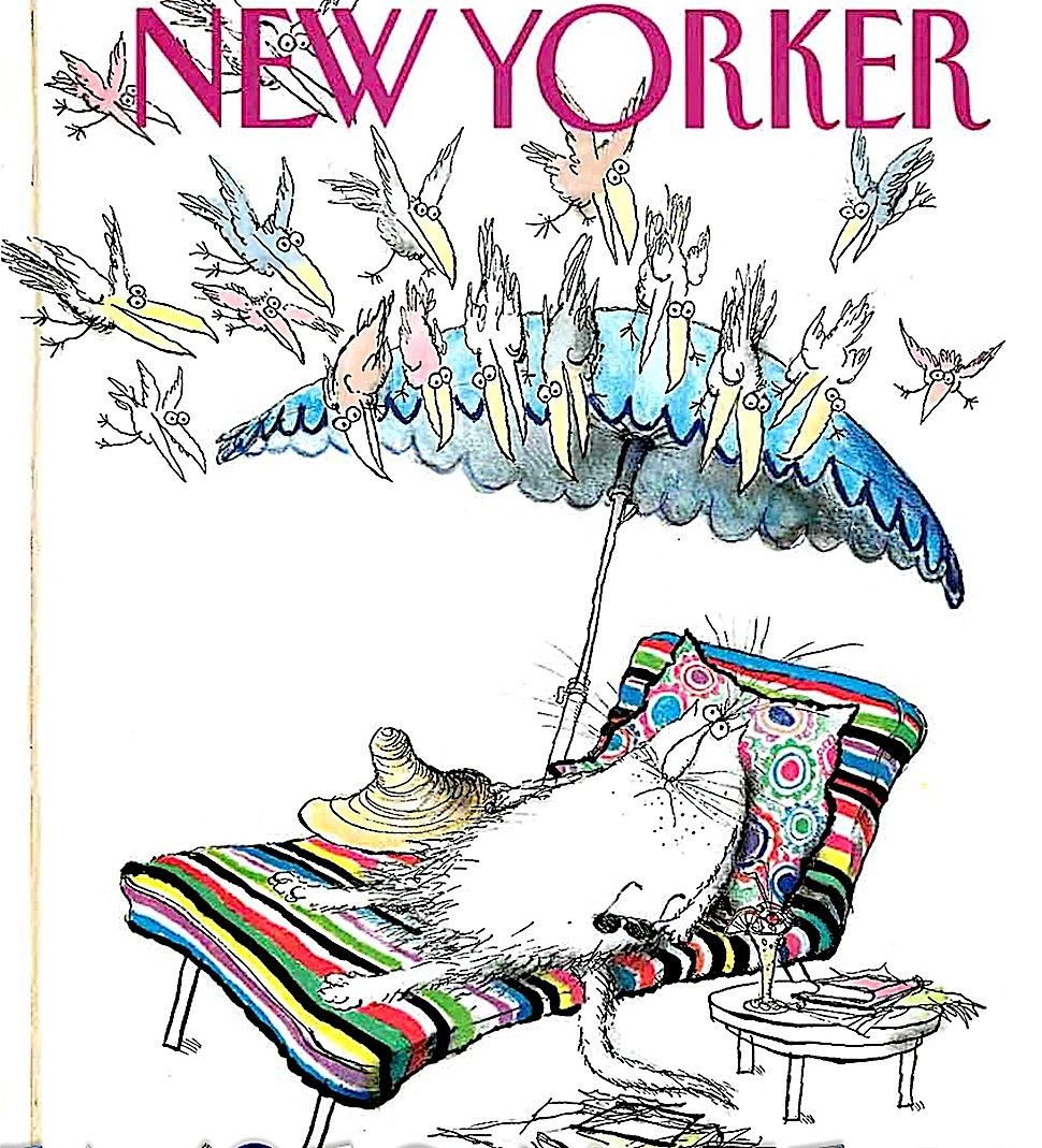 a Ronald Searle cat cover for The New Yorker