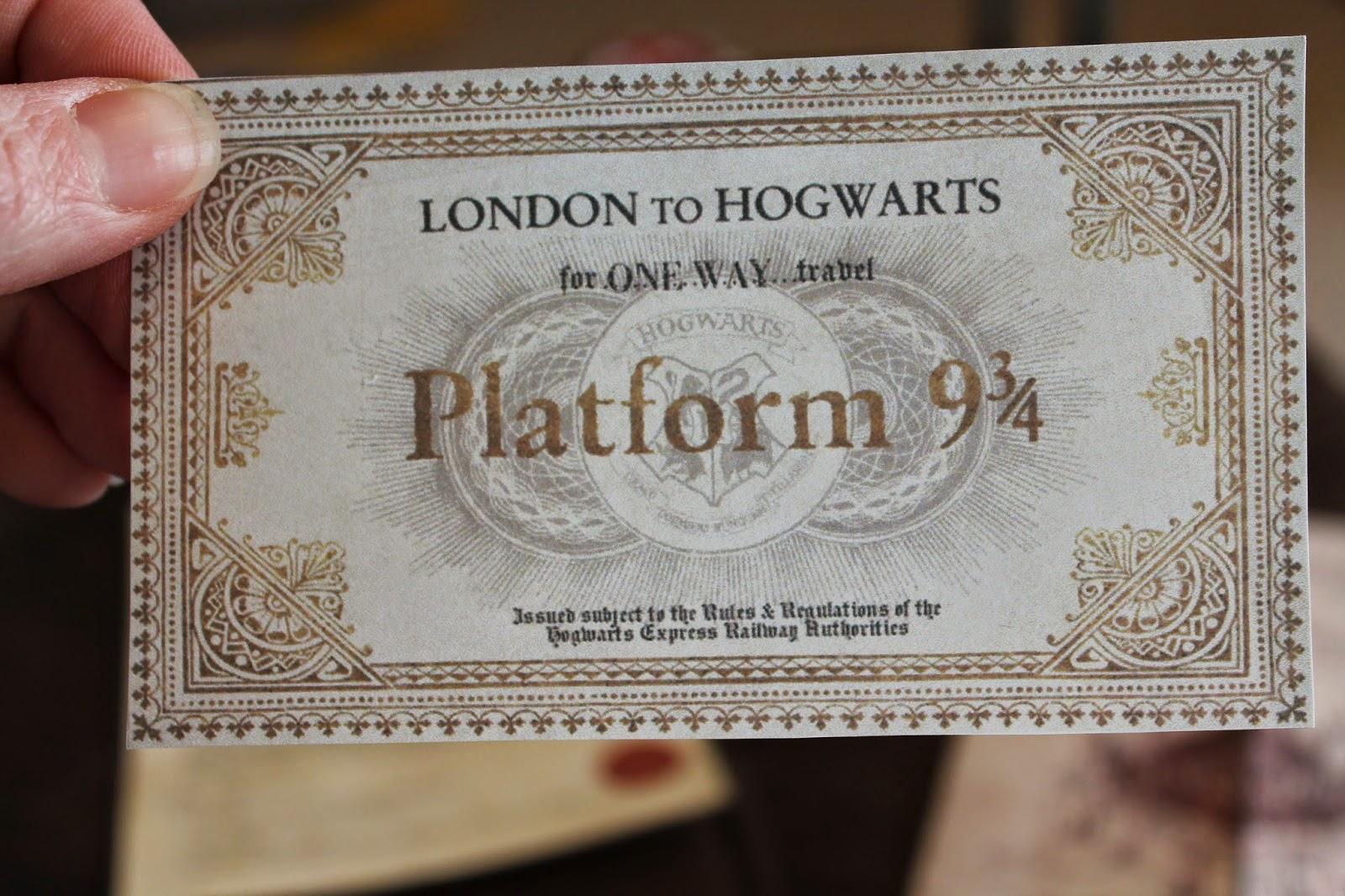hogwarts express ticket - HD1600×1066
