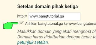 Centang Alihkan Domain Freenom