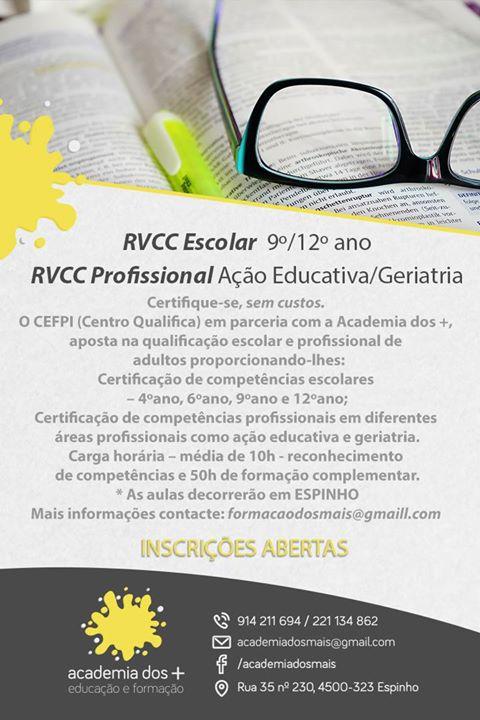 RVCC escolar e profissional em Espinho