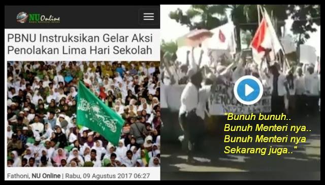 """Waduh! Demo NU Tolak FDS, Peserta Aksi Teriakan """"Bunuh Menteri"""", Ini Videonya..."""