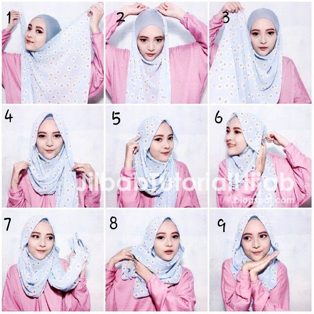 Tutorial Cara Memakai Hijab Pashmina 2016 saat Ramadhan dan Idul Fitri dan Lebaran