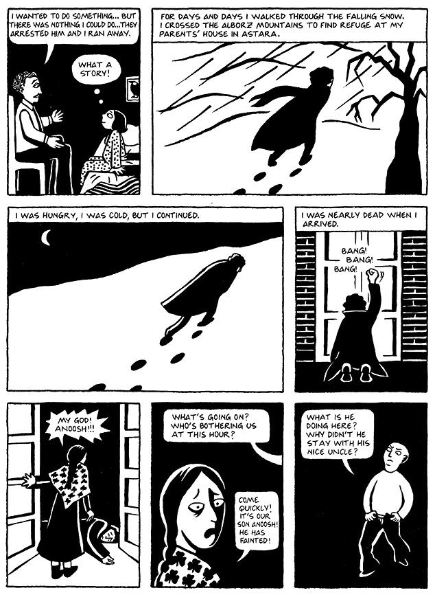 Read Chapter 8 - Moscow, page 54, from Marjane Satrapi's Persepolis 1 - The Story of a Childhood