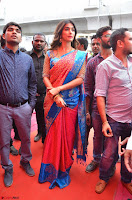 Puja Hegde looks stunning in Red saree at launch of Anutex shopping mall ~ Celebrities Galleries 116.JPG