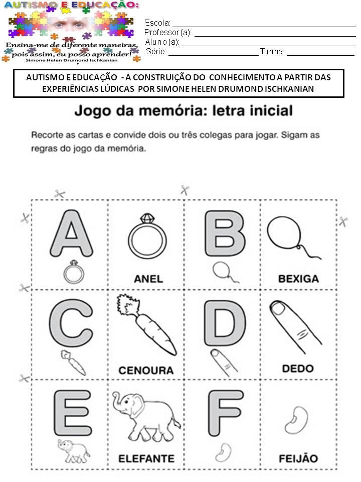 Conhecido ATIVIDADES - AUTISMO E EDUCAÇÃO A CONSTRUIÇÃO DO CONHECIMENTO A  MB16