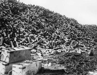 Los restos de miles de proyectiles disparados durante la batalla del Somme