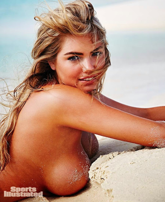Topless Kate Upton and Her Huge Boobs Are on the Beach