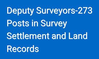 Telangana Deputy Surveyors-273 Posts in Survey Settlement and Land Records