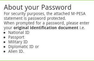 M-PESA Statement Password