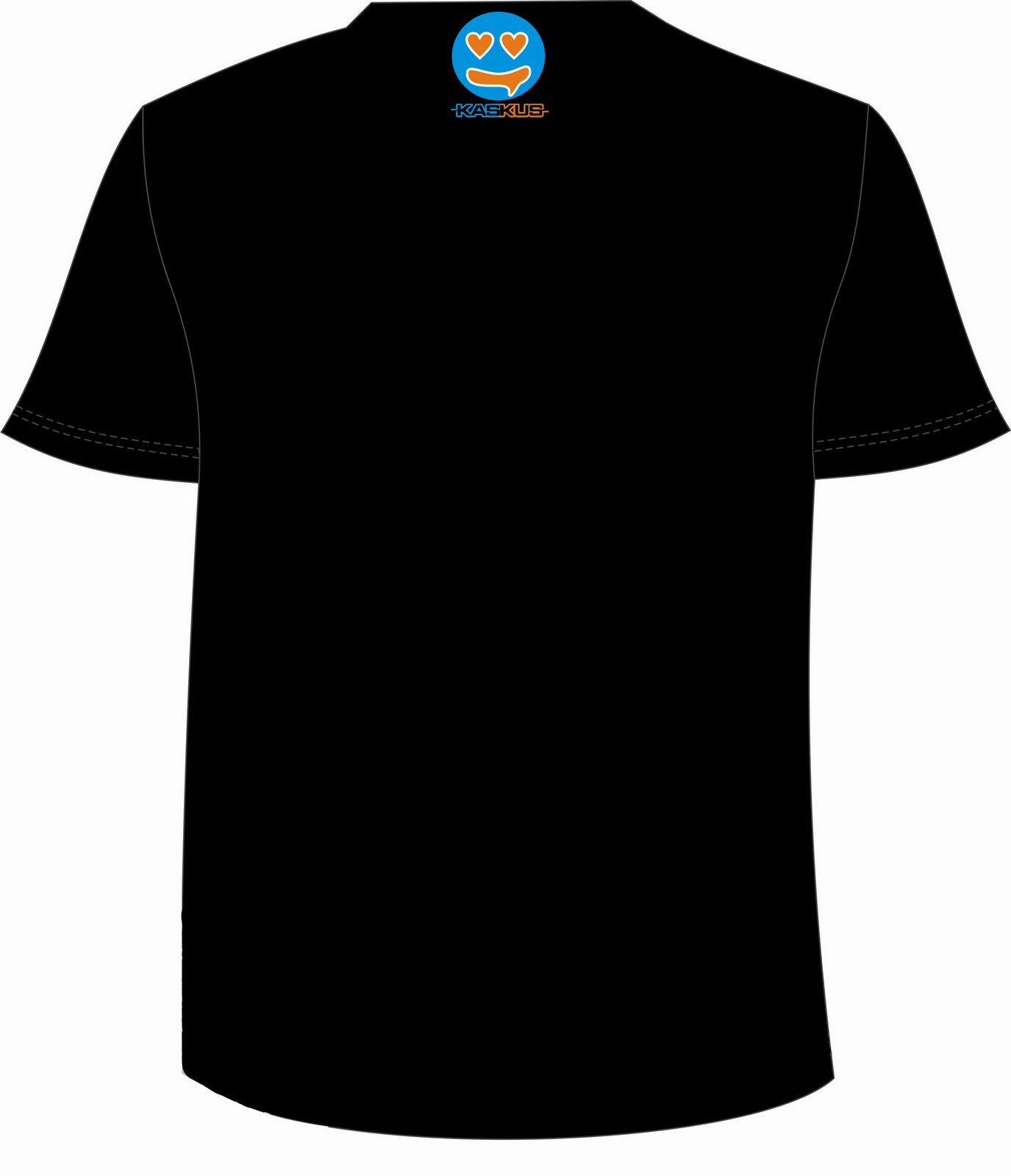 photoshop kaos black belakang