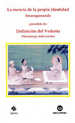 Swarupasaram, Vedanta Paribhasa, Dharmaraja