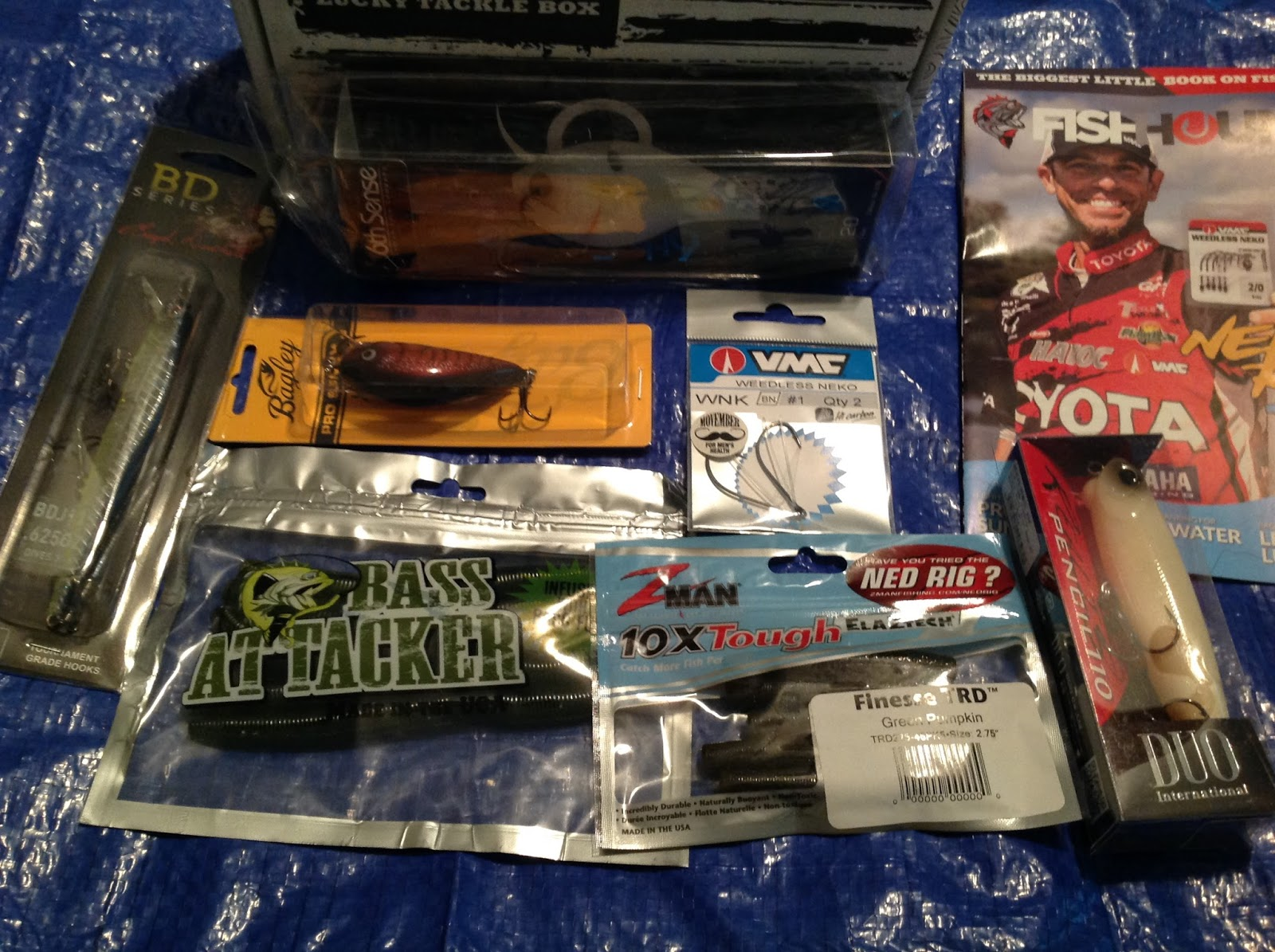 Cassandra m 39 s place lucky tackle box review luckytacklebox for Monthly fishing box