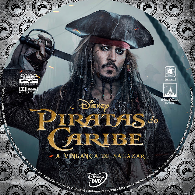 Label DVD Piratas Do Caribe A Vingança De Salazar [Exclusiva]