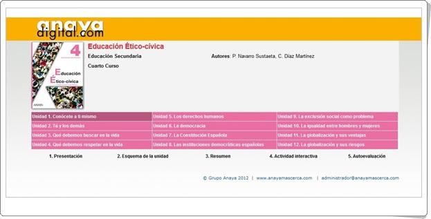 "Anaya Digital: ""Educación Ético-Cívica de 4º de Secundaria"""