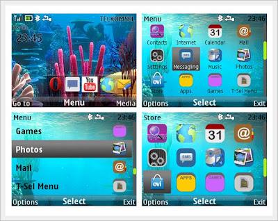 Aqua theme Asha 302 Asha 200 Asha 201 C3-00 X2-01