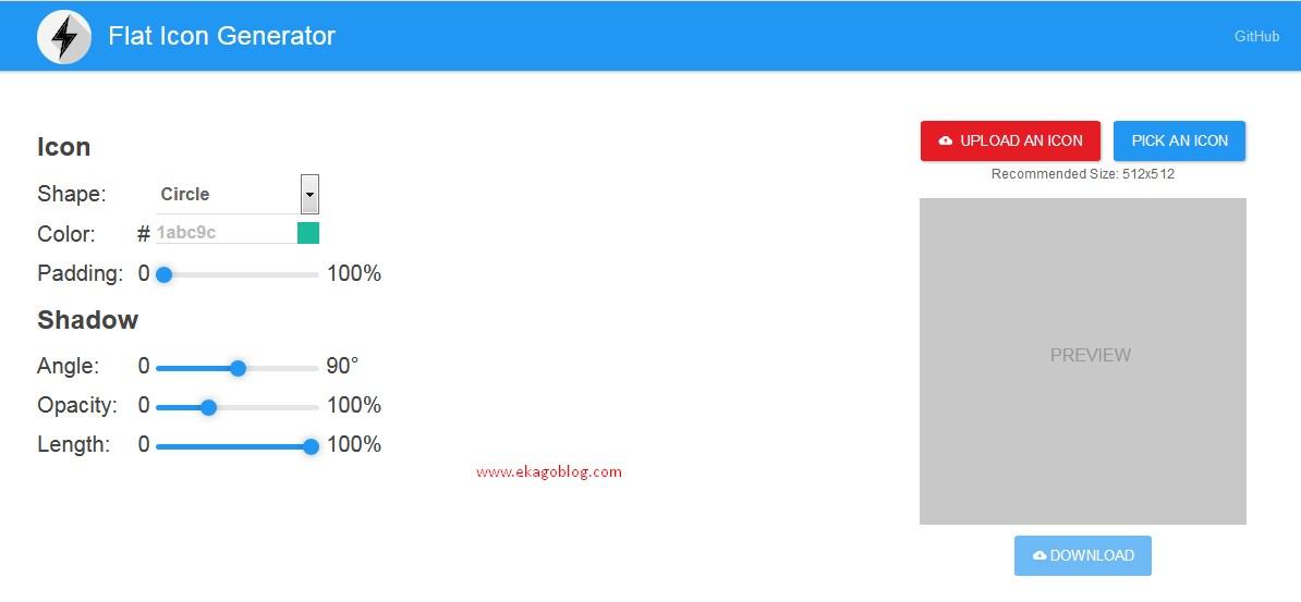 Tools Online Gambar Icon Flat Generator
