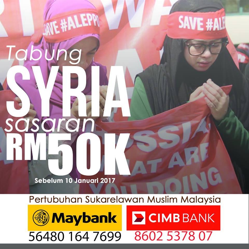 muslim volunteer malaysia, tabung kecemasan misi kemanusiaan syria