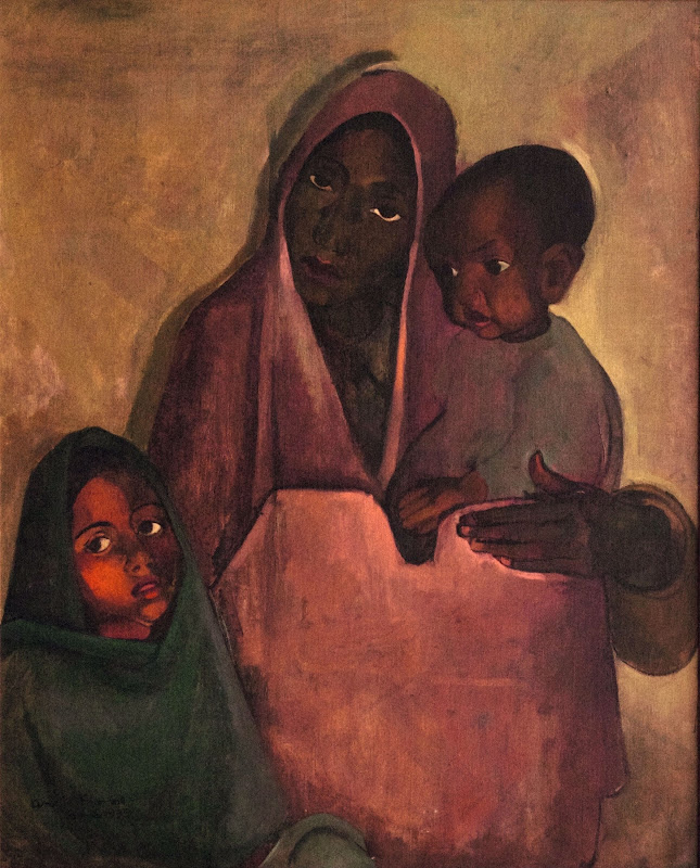 Mother India by Amrita Sher-Gil (Oil on Canvas) - 1935