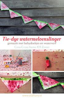 Tie-dye watermeloenslinger