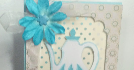 Teapot card from Cricut Design Space