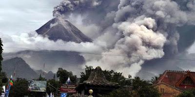 Tingkatan status gunung berapi di Indonesia.