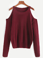 http://es.shein.com/Burgundy-Open-Shoulder-Knit-Sweater-p-327044-cat-1734.html?aff_id=8741