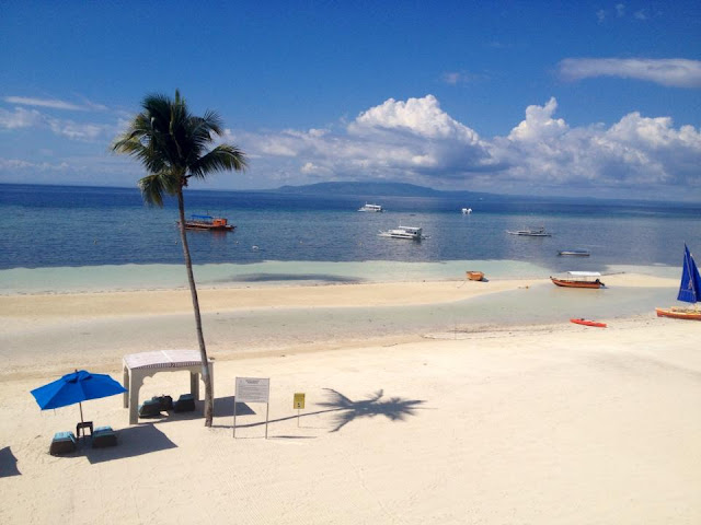 Boats at Doljo Beach Panglao Island Bohol Central Visayas Philippines