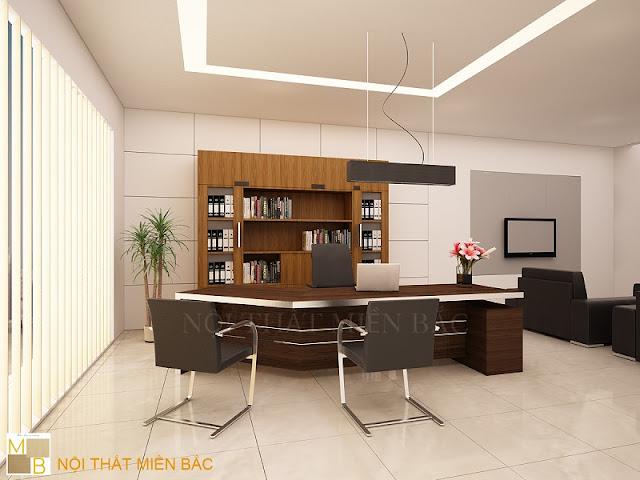 Sản phẩm được làm từ chất liệu gỗ mang vẻ đẹp vô cùng lịch lãm, sang trọng cho thiết kế nội thất phòng giám đốc