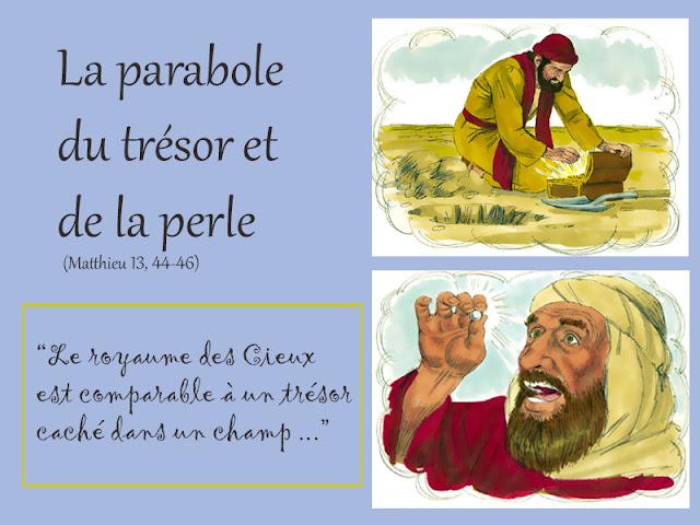 Caté : La parabole du Trésor et de la perle