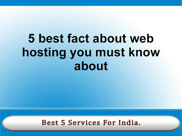 5 web hosting fact