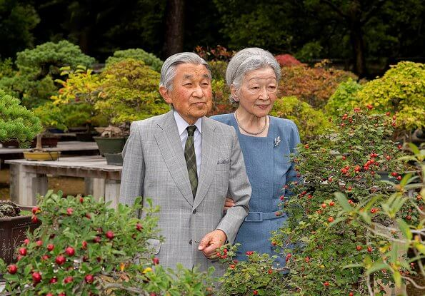 The Imperial Household Agency published the new photos of Empress Michiko and Emperor Akihito. Princess Masako