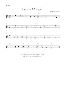 Away In A Manger viola