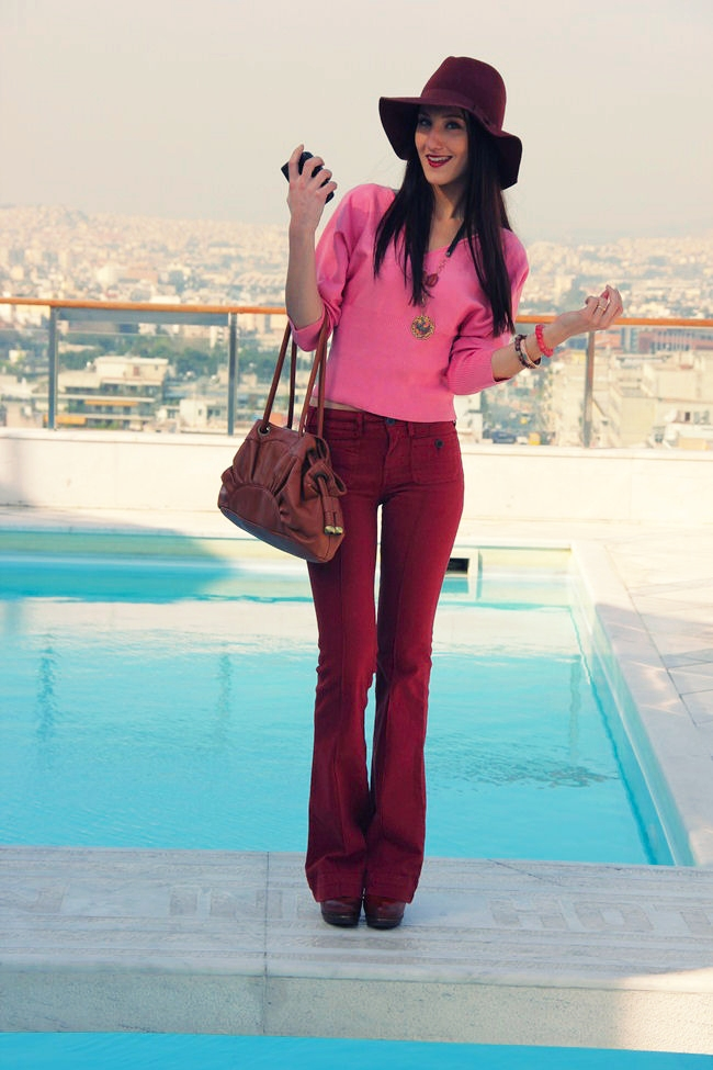modern boho looks and outfits with flared pants