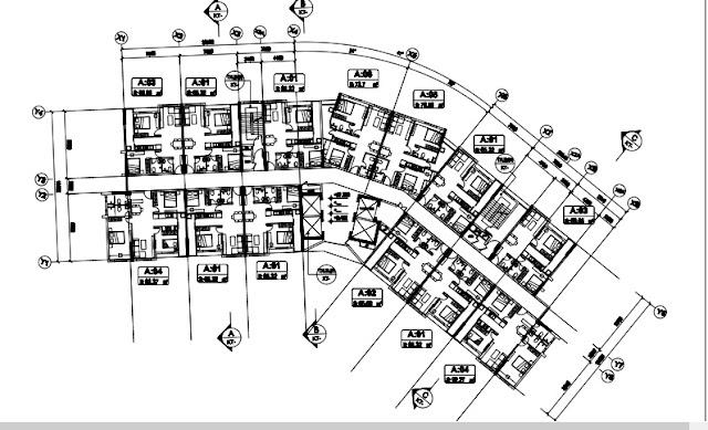 Mặt bằng căn hộ điển hình tòa T1